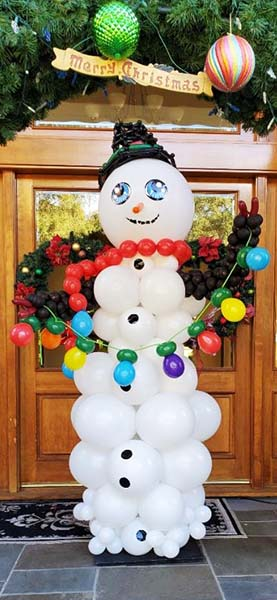 Balloonatics cheerful six foot tall snowman with to serve as an excellent entrance decoration