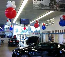 Balloon bubble decorations for an auto dealer sales event