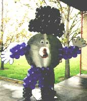 Discman corporate mascot sculpture created for an employee party</span>