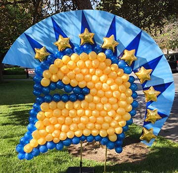 This six foot tall San Jose State University Spartan logo was created for a student event.