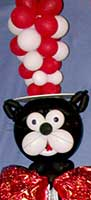 A touch of Dr. Suess from a 6 foot tall Cat in the HAT Balloon sculpture