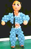 Balloonatics Princess Jasmine balloon sculpture adds the maagic of Alladin to your theme party