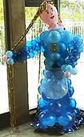 This 6 foot Rapunzel balloon sculpture character brings the Brothers Grimm to your event