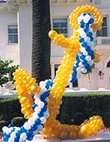 A giant anchor balloon sculpture on the
