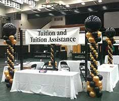 Decorations for school enrollment fair